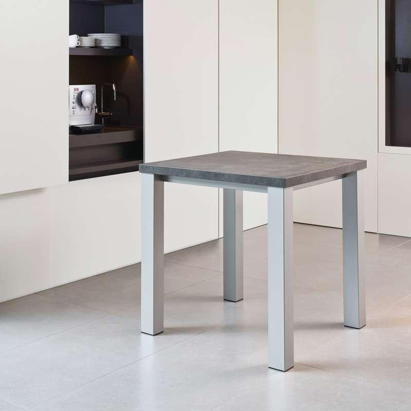 Table de cuisine carr e en stratifi quadra 4 pieds tables chaises et - Table cuisine carree ...