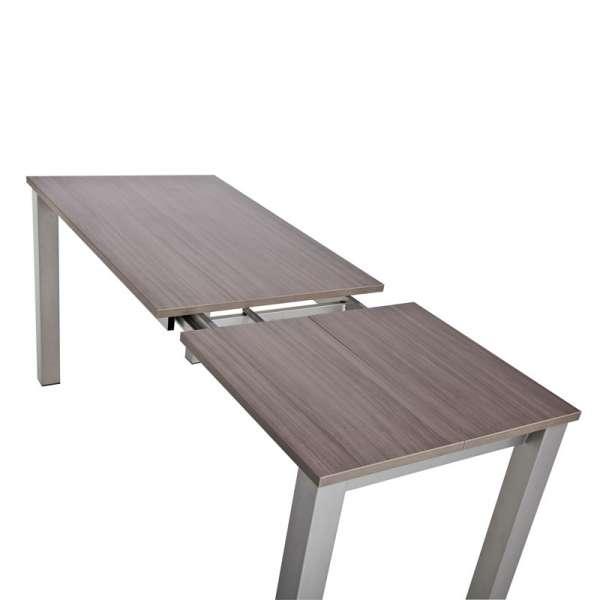 Table de cuisine snack rectangulaire extensible en stratifié - Valencia 6 - 6