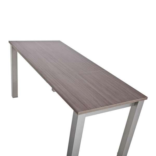 Table de cuisine snack rectangulaire extensible en stratifié - Valencia 7 - 7