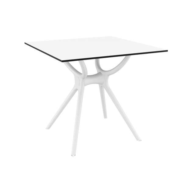 Table de terrasse carrée en stratifié et polypropylène - Air 2 - 4