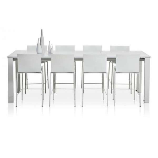 Table snack rectangulaire en stratifié - Vario 2 - 2