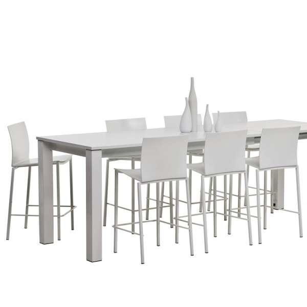 Table snack rectangulaire en stratifié - Vario
