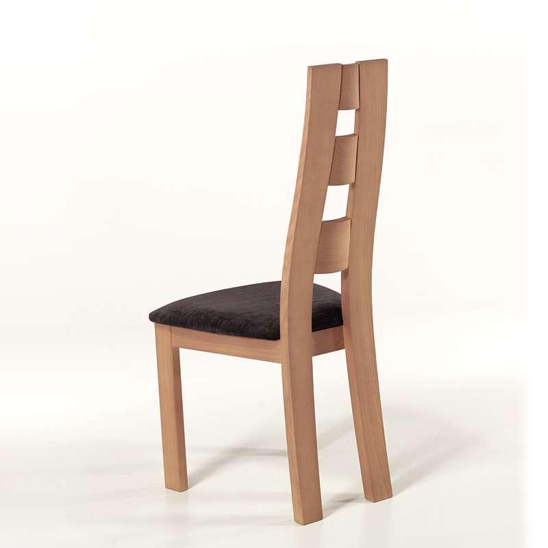 chaise de s jour de fabrication fran aise tissu et bois ambre 4 pieds tables chaises et. Black Bedroom Furniture Sets. Home Design Ideas