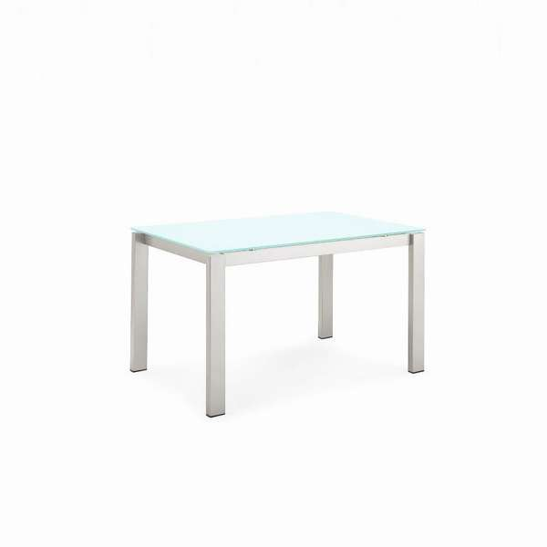 Table snack extensible en verre et m tal baron connubia for Table sam extensible