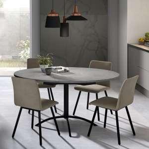 Table de cuisine ronde en stratifié extensible - Laser