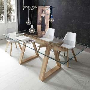 Achat de tables de salle manger en verre 4 pieds - Table design verre ...
