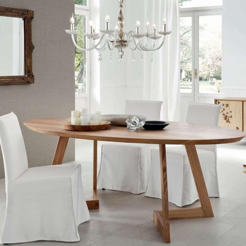 table ovale bois massif. Black Bedroom Furniture Sets. Home Design Ideas