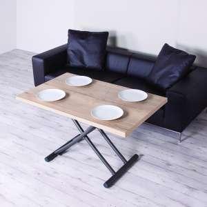 Table relevable en mélaminé chêne naturel N20 pieds graphite 11 - Géniale