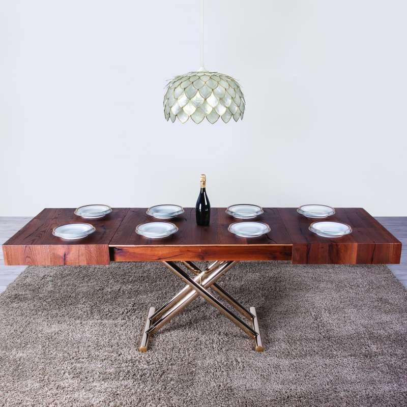 table relevable extensible pour petit espace en bois ulisse 4 pieds tables chaises et. Black Bedroom Furniture Sets. Home Design Ideas