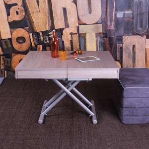 Table transformable en lit en mélaminé Orleans Sabbia N19 piétement M02- Tavoletto