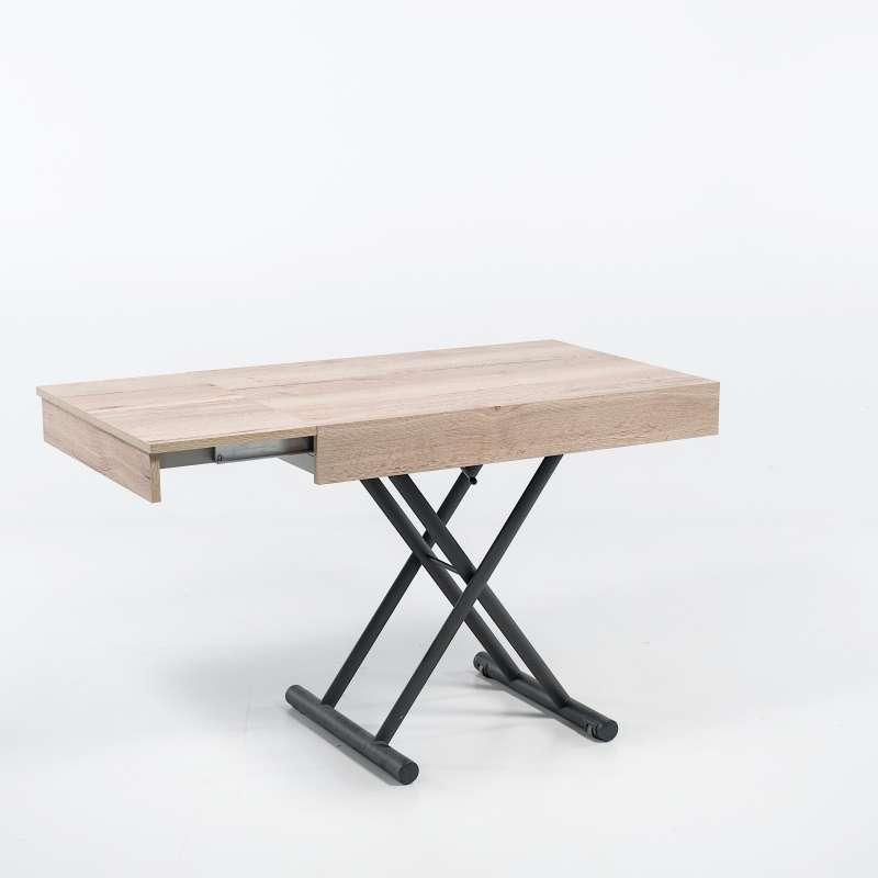 table r glable en hauteur et extensible en m lamin. Black Bedroom Furniture Sets. Home Design Ideas