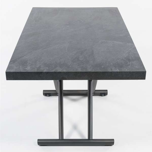 table basse relevable petit espace en m lamin g niale 4 pieds tables chaises et tabourets. Black Bedroom Furniture Sets. Home Design Ideas