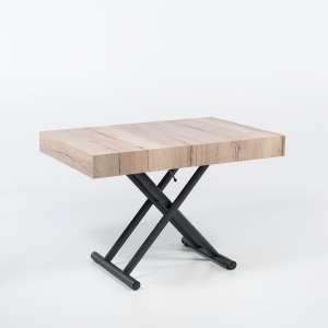 Table relevable extensible en mélaminé natural halifax n20 piétement graphite m11  - Ulisse