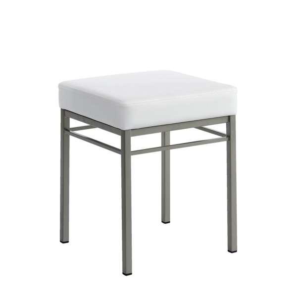 Tabouret bas de cuisine en m tal quadra 4 pieds tables - Tabouret de cuisine 4 pieds ...