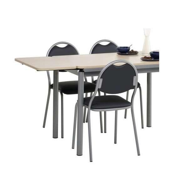Chaise de cuisine en métal avec assise et dossier rembourrés - Corfou 3 - 3