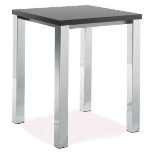 Table de cuisine carrée mange-debout en stratifié - Quadra