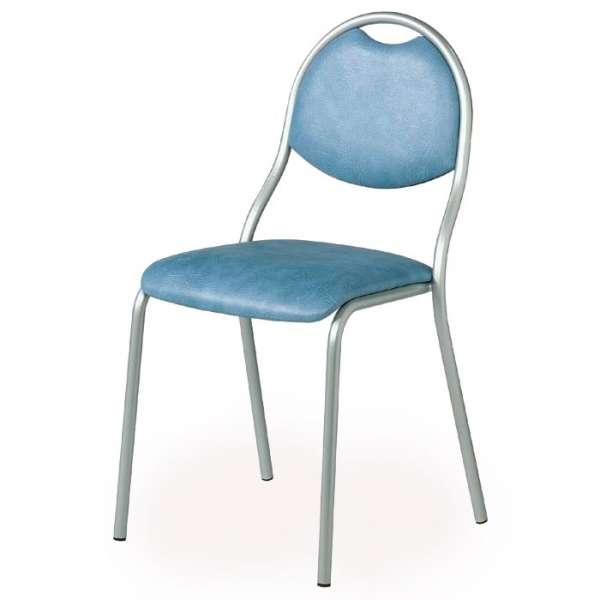 Chaise de cuisine en métal avec assise et dossier rembourrés - Corfou 2 - 2