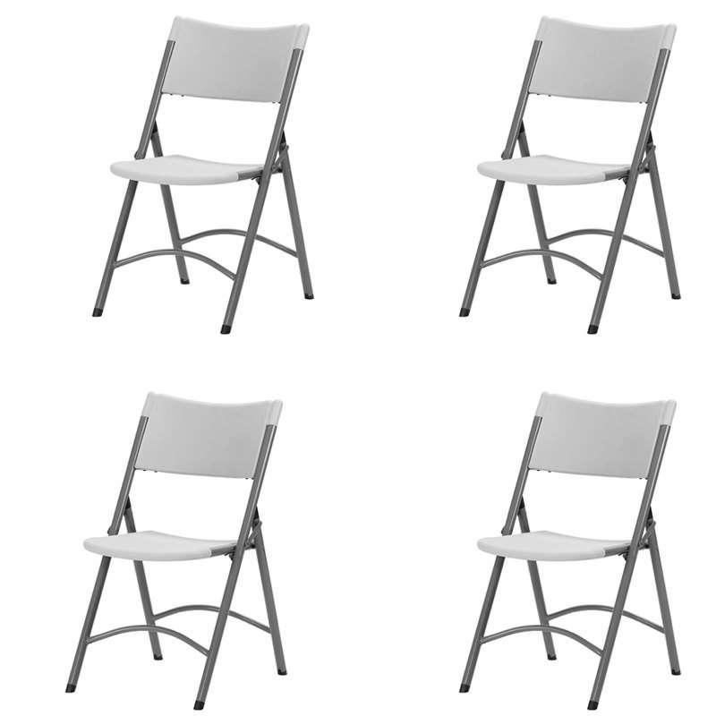 Chaise pliante en polypropyl ne otto 4 pieds tables chaises et tabourets - Table pliante 4 chaises ...