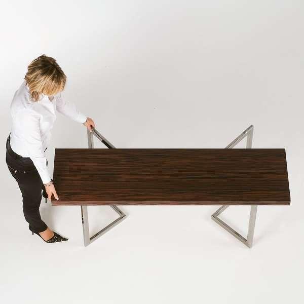 Table modulable en bois et métal - Giravolta 130 - 4