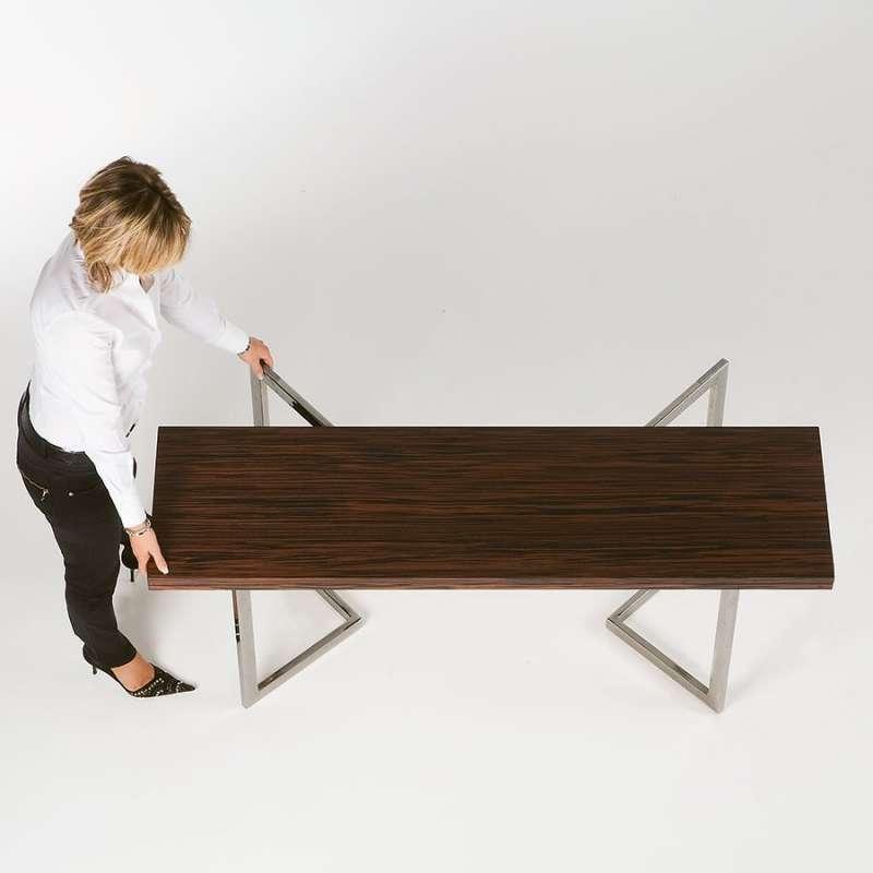 Table console modulable en bois et m tal giravolta r f 130 4 pieds tabl - Table console en bois ...