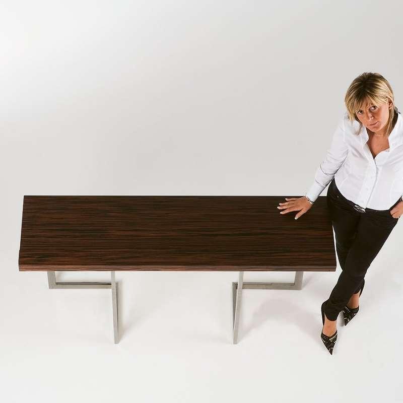 table console design modulable en bois et m tal giravolta 4 pieds tables chaises et tabourets. Black Bedroom Furniture Sets. Home Design Ideas