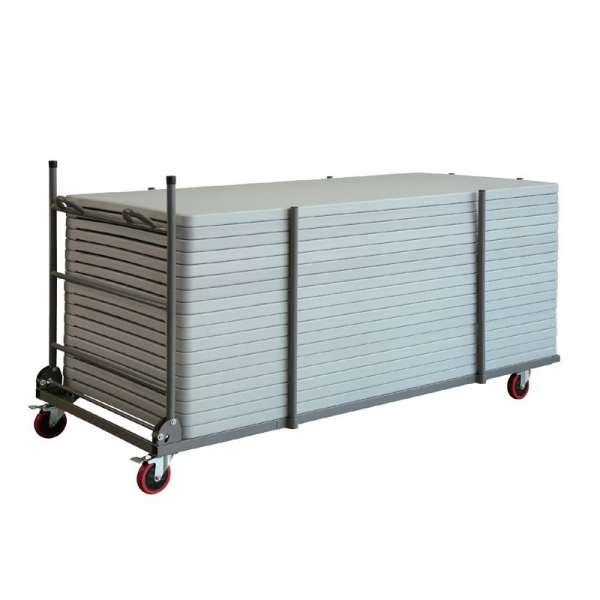 Chariot de stockage et de transport pour table pliante