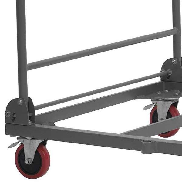 Chariot de stockage et de transport pour table pliante - 3