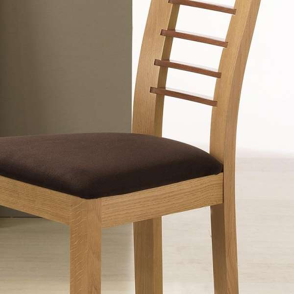 Chaise contemporaine Cannelle en chêne - 8