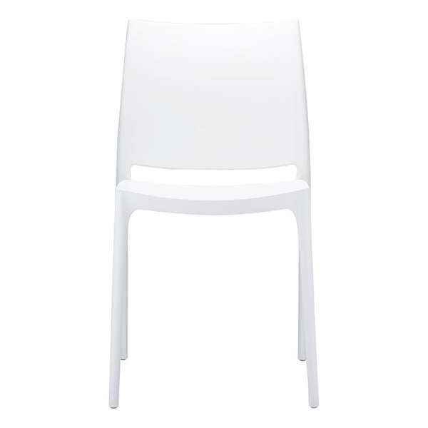 Chaise blanche design en plastique polypropylène - Maya - 9