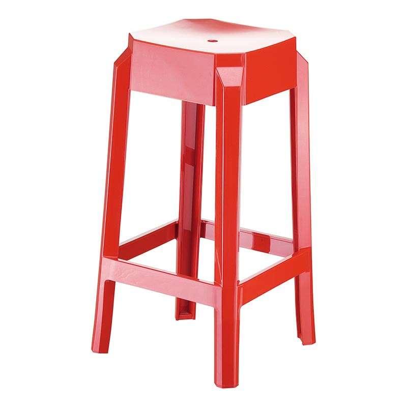 tabouret moderne en plexi hauteur 65 cm fox 4 pieds tables chaises et tabourets. Black Bedroom Furniture Sets. Home Design Ideas