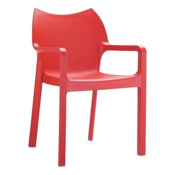Fauteuil design rouge en polypropylène - Diva - 7
