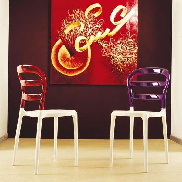 Chaise moderne en plexi et polypropylène - Miss Bibi