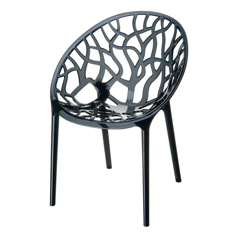 chaise design en plexi crystal 4 pieds tables chaises et tabourets. Black Bedroom Furniture Sets. Home Design Ideas