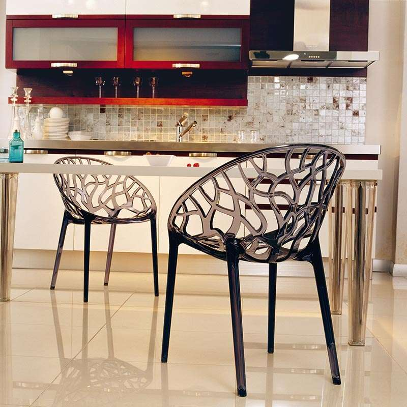 chaise design en plexi crystal 4 pieds tables chaises et tabourets. Black Bedroom Furniture Sets. Home Design Ideas
