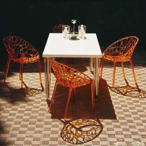 Chaise design en polycarbonate - Crystal 1 - 2