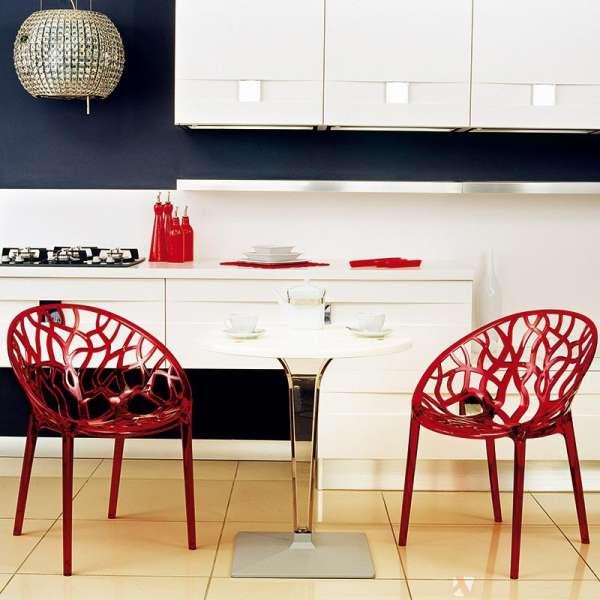 Chaise design en polycarbonate - Crystal 2 - 3