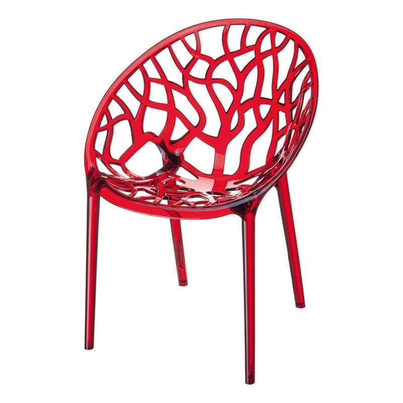 chaise design en polycarbonate crystal 4 pieds tables chaises et tabourets. Black Bedroom Furniture Sets. Home Design Ideas