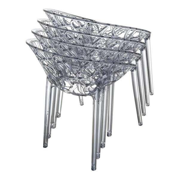 Chaise design en polycarbonate - Crystal 12 - 13