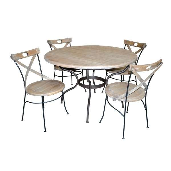 design table de jardin zellige ronde rouen 31 table. Black Bedroom Furniture Sets. Home Design Ideas