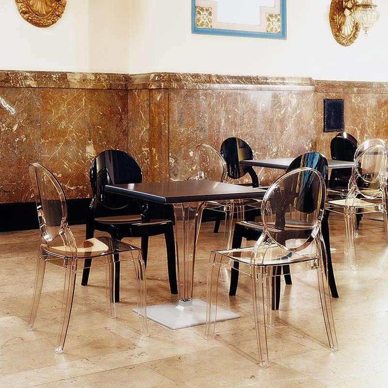 chaise de style en polycarbonate transparent elizabeth 4 pieds tables chaises et tabourets. Black Bedroom Furniture Sets. Home Design Ideas