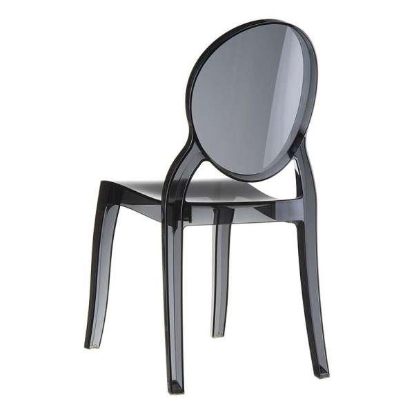 Chaise moderne en plexi transparent noir Elizabeth - 9