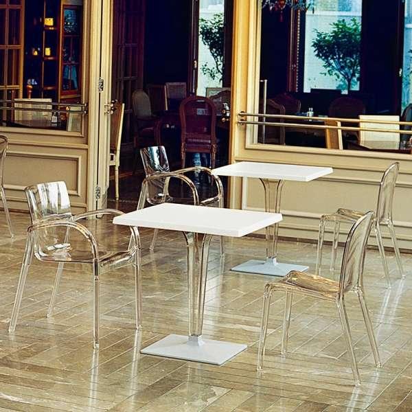 Piétement design transparent Ice - 1