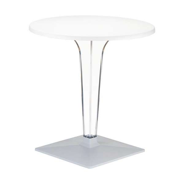 Table design ronde blanche - Ice - 5