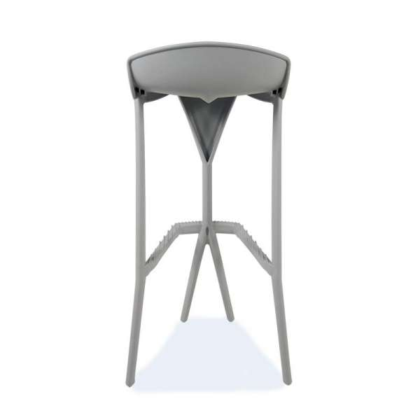 Tabouret design gris - Shiver - 7