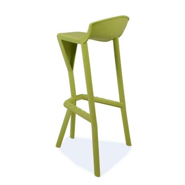 Tabouret vert design en plastique - Shiver - 9