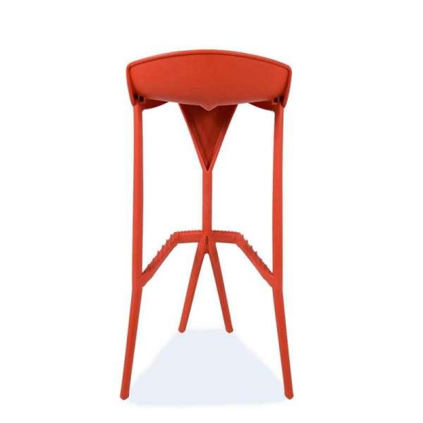 Tabouret rouge design en plastique - Shiver - 3