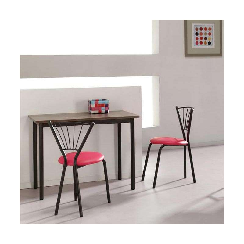 chaise de cuisine en m tal sandra 4 pieds tables chaises et tabourets. Black Bedroom Furniture Sets. Home Design Ideas