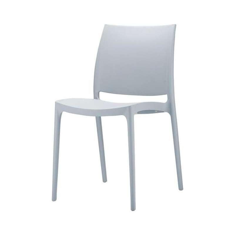 chaise en plastique polypropyl ne maya 4 pieds. Black Bedroom Furniture Sets. Home Design Ideas