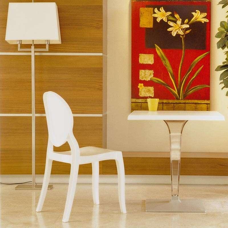 chaise design elizabeth opaque en polycarbonate 4 pieds tables chaises et tabourets. Black Bedroom Furniture Sets. Home Design Ideas