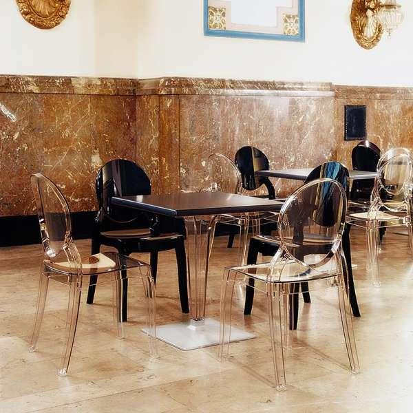 Chaise design Elizabeth Opaque en polycarbonate